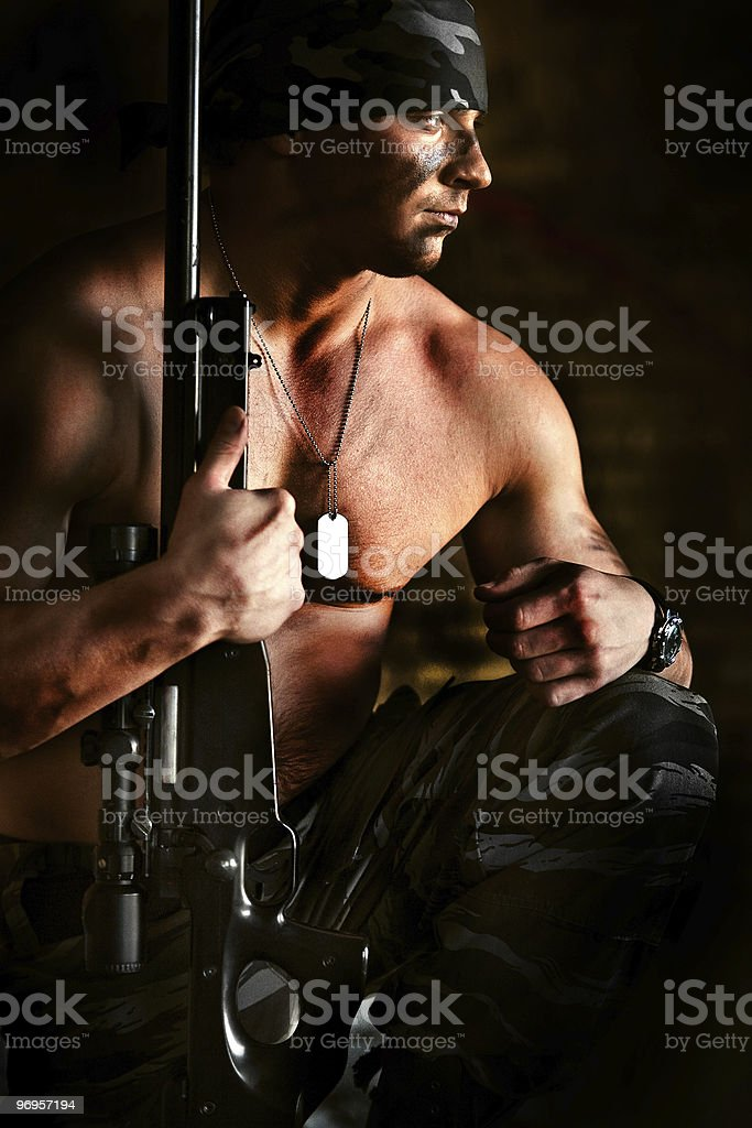 Powerful sniper royalty-free stock photo