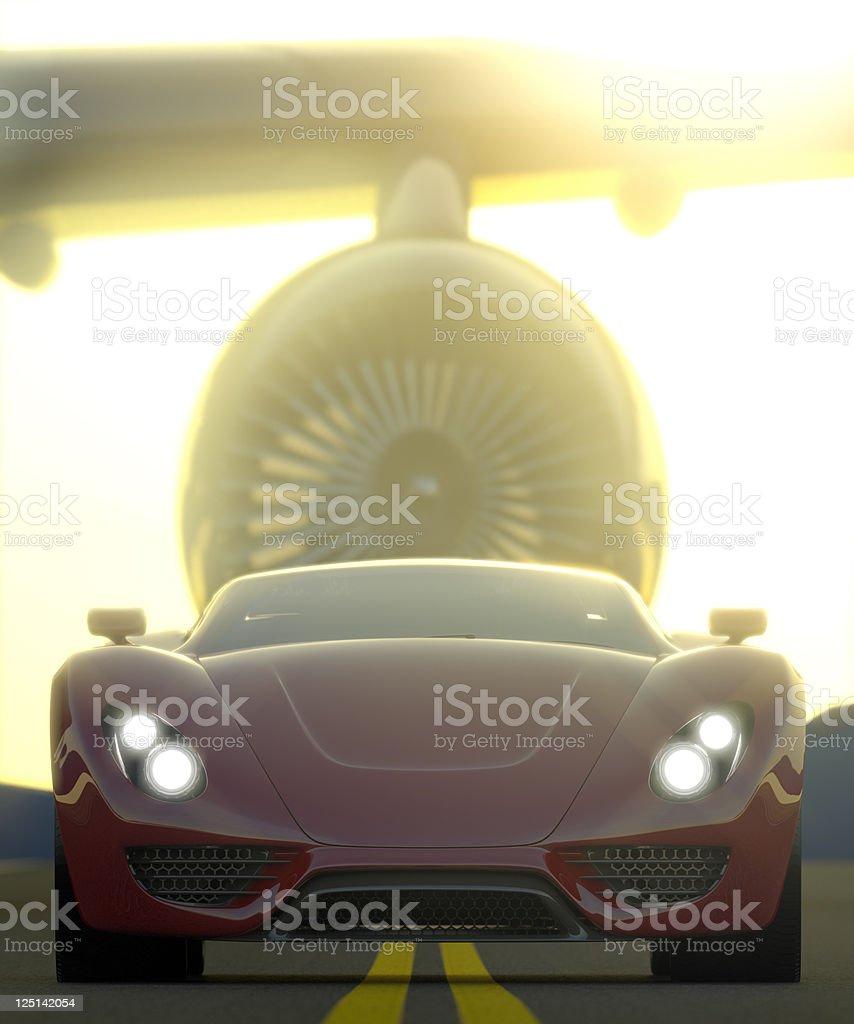 Powerful Sports Car royalty-free stock photo