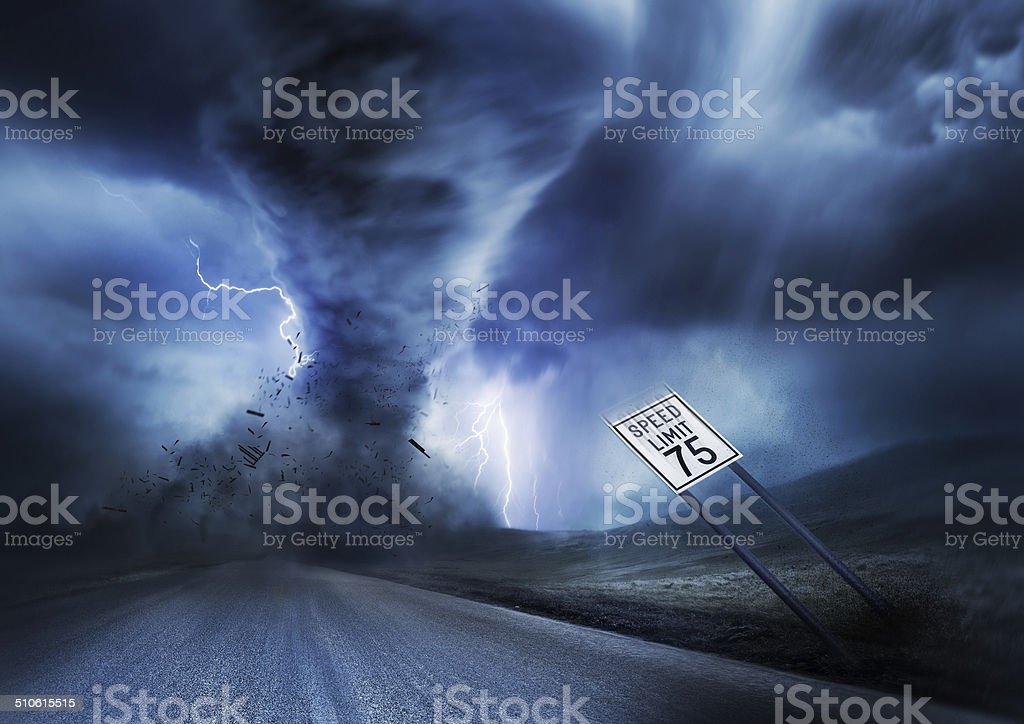 Powerful Storm and Tornado stock photo