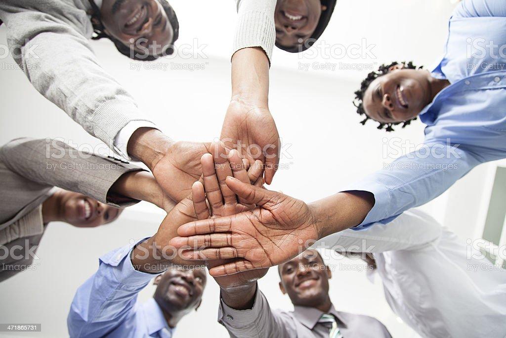 Powerful teamwork. stock photo