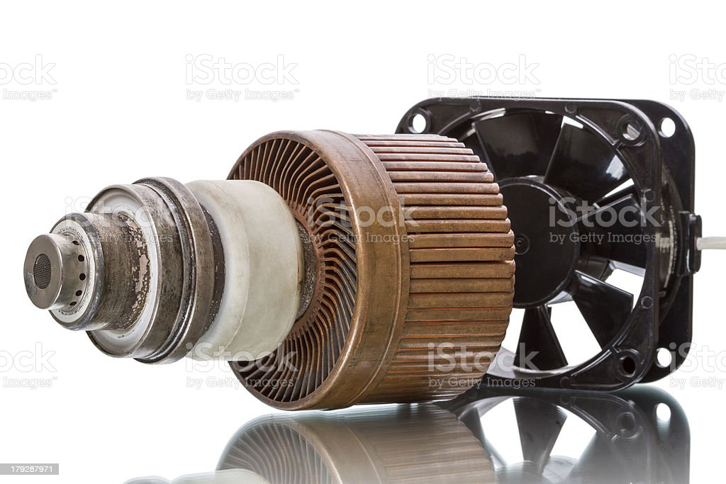 Powerful triode and fan stock photo