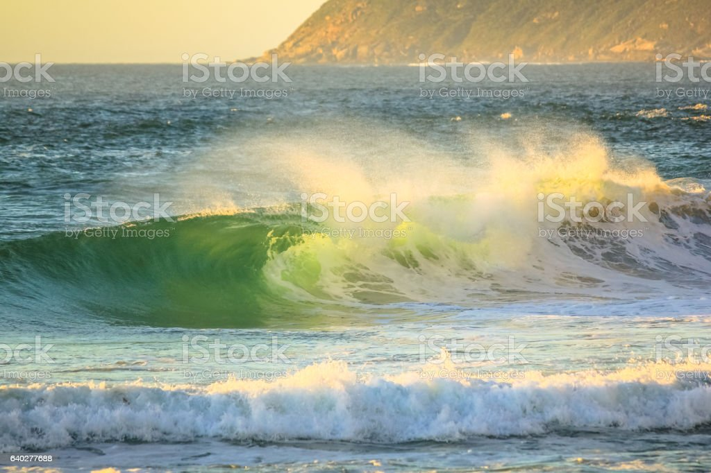 Powerful waves background stock photo
