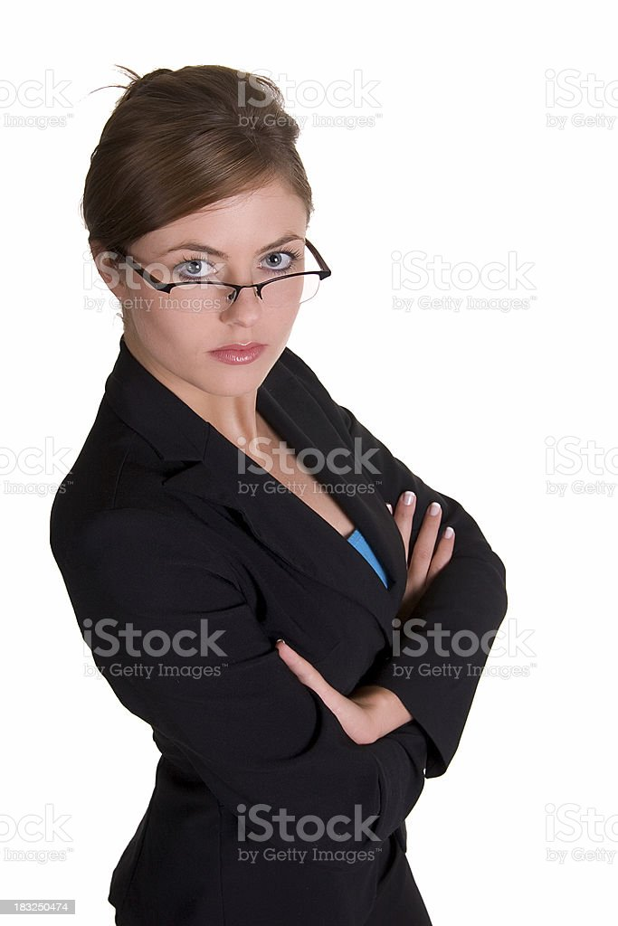 Powerful young woman royalty-free stock photo
