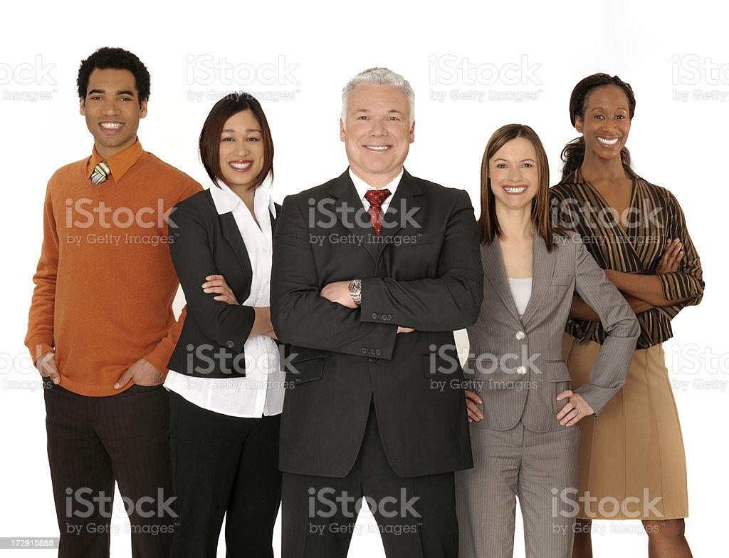powerfull employees on white royalty-free stock photo