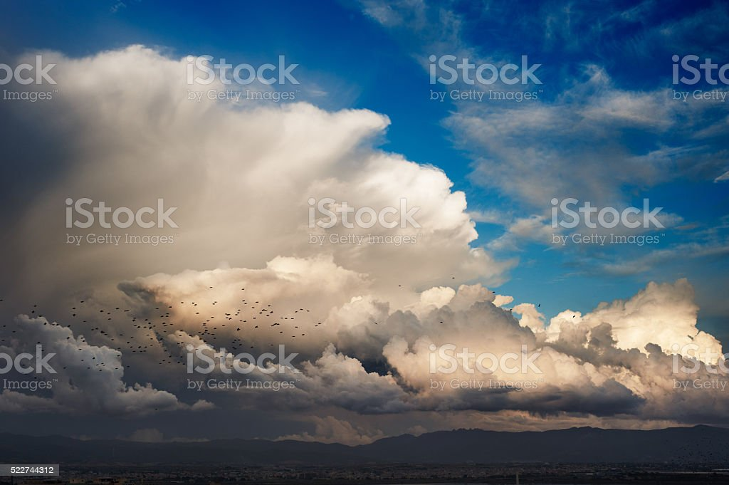 Powerfull sky stock photo