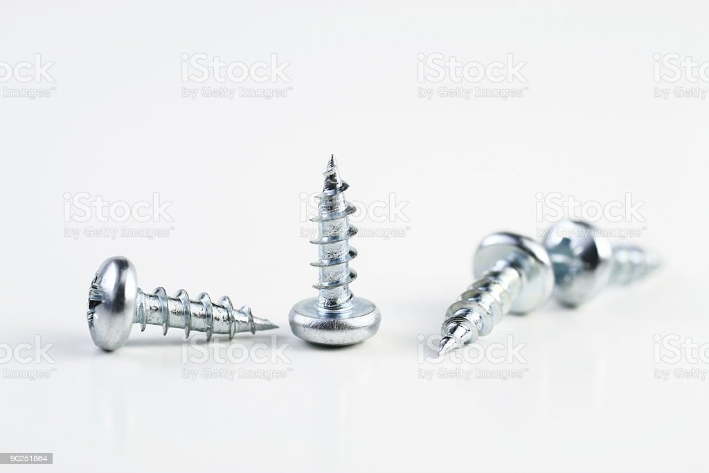 Powerfully screw stock photo