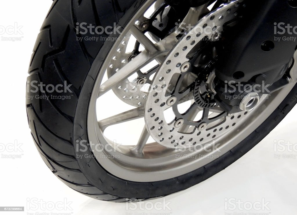 Powerhouse Motorcycle Brake Calipers Detailed Stock Photo stock photo