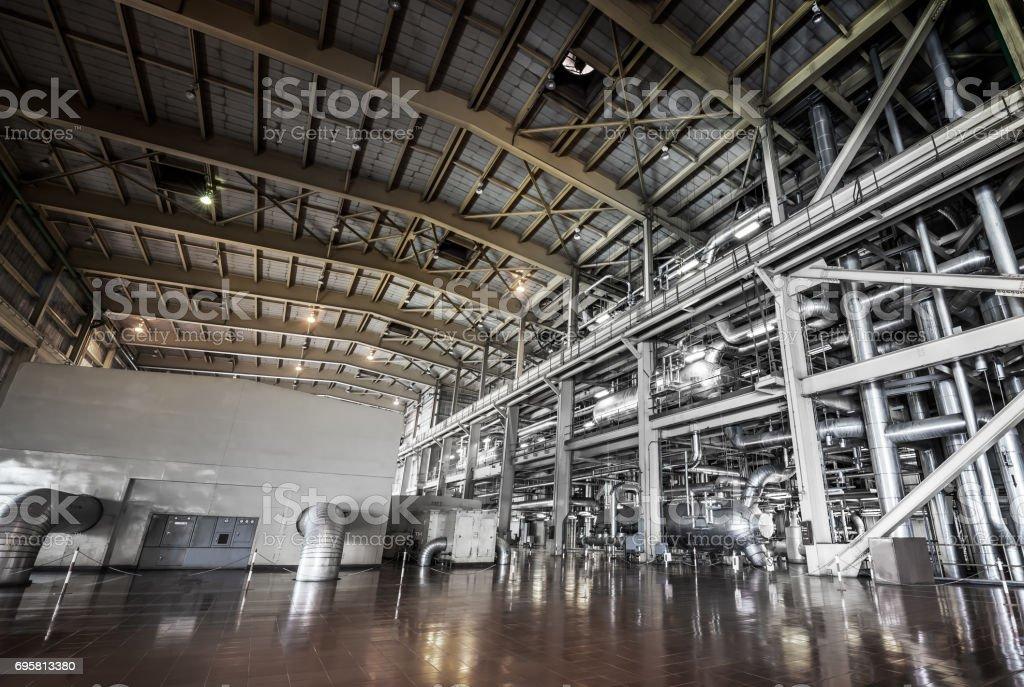 Powerhouse pipe system stock photo