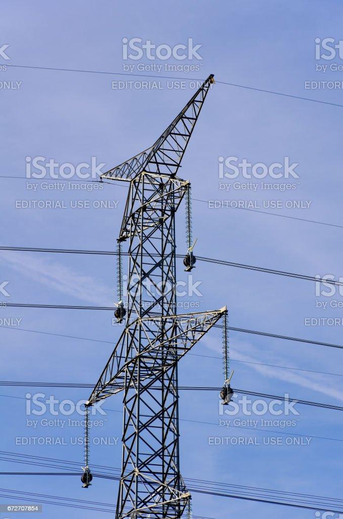 Powerline Construction stock photo