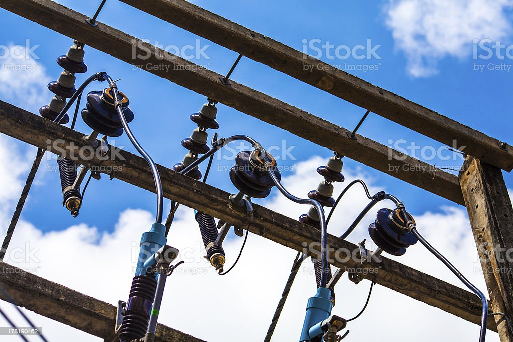 Powerlines royalty-free stock photo