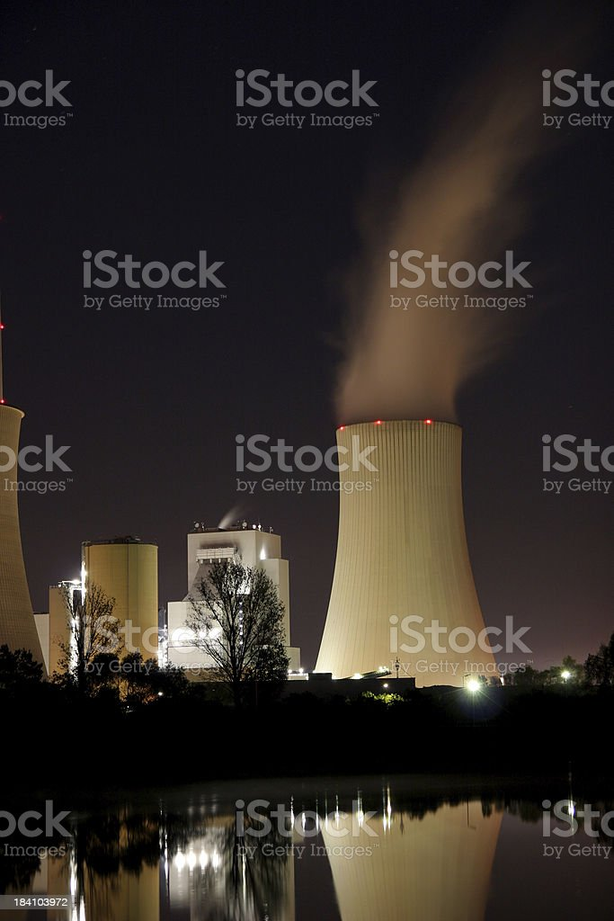 Powerplant at night royalty-free stock photo