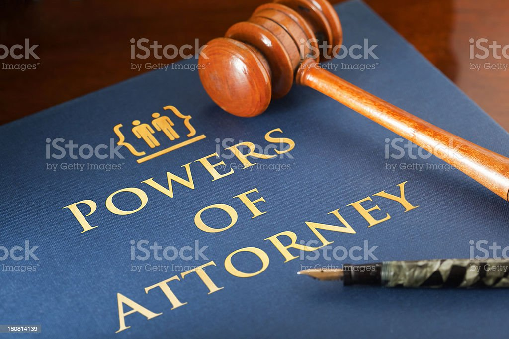 Powers of Attorney stock photo