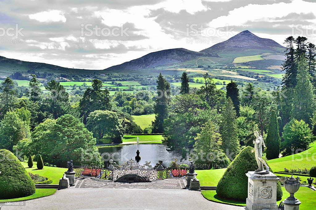 Powerscourt Estate - Sugar Loaf Mountain (Wicklow/Ireland) stock photo