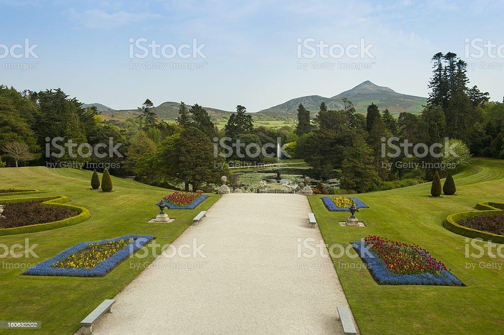Powerscourt gardens royalty-free stock photo