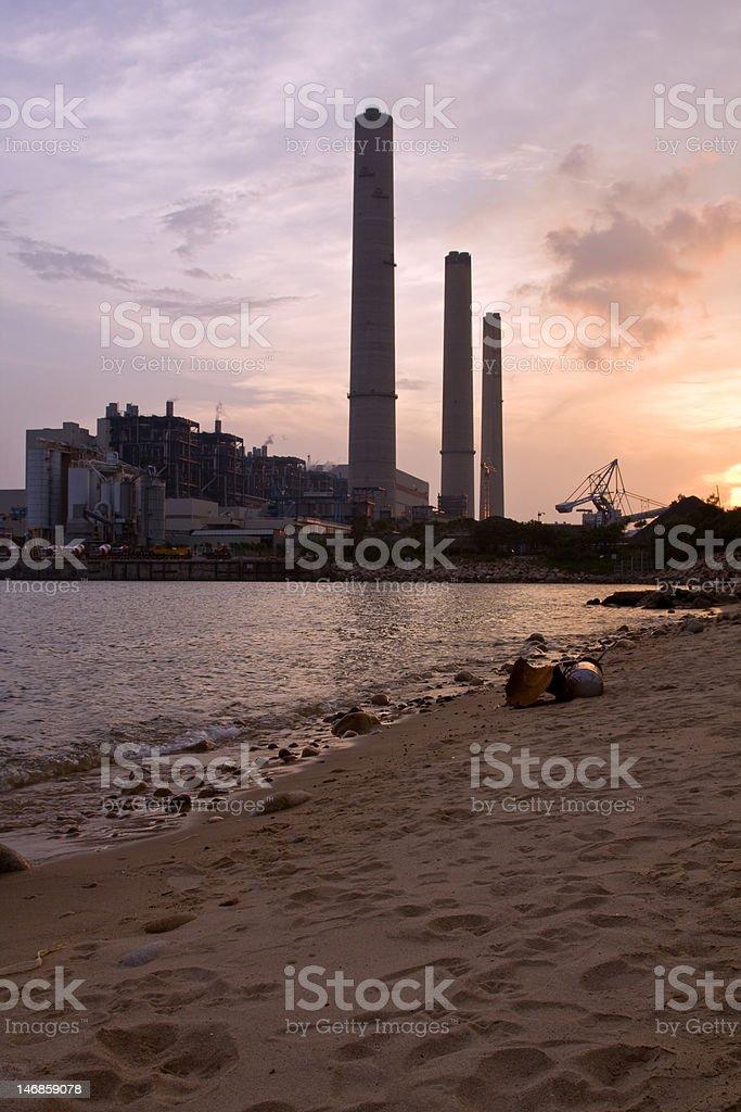 Powerstation Beach royalty-free stock photo