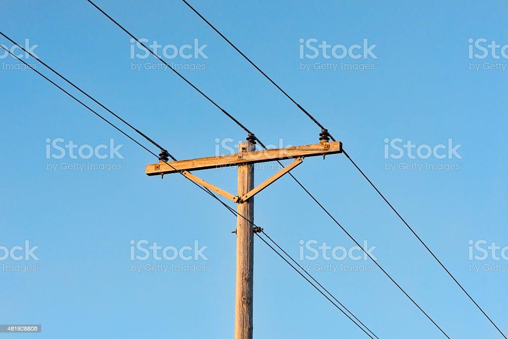 Power/Telephone Poll stock photo