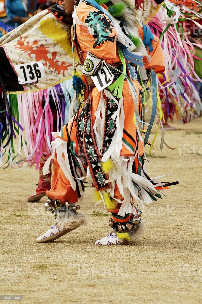 Powwow dancers royalty-free stock photo