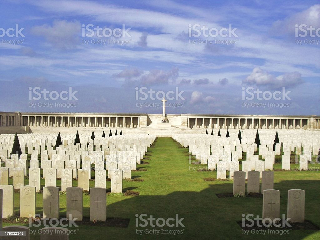 Pozieres War Cemetery stock photo