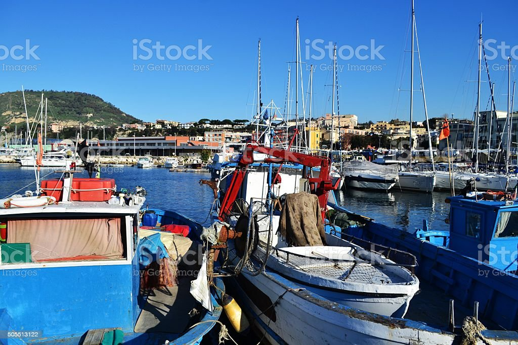 Pozzuoli, Naples. Porto stock photo