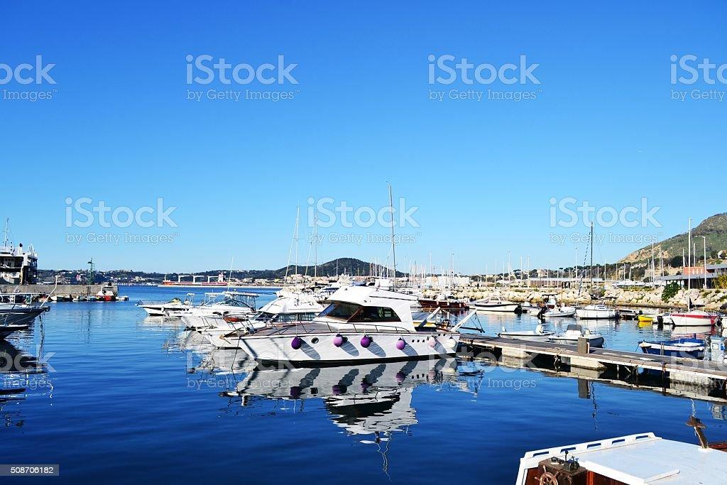 Pozzuoli, Naples. Villaggio di pescatori stock photo