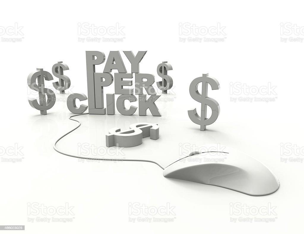 PPC-pay per click royalty-free stock photo