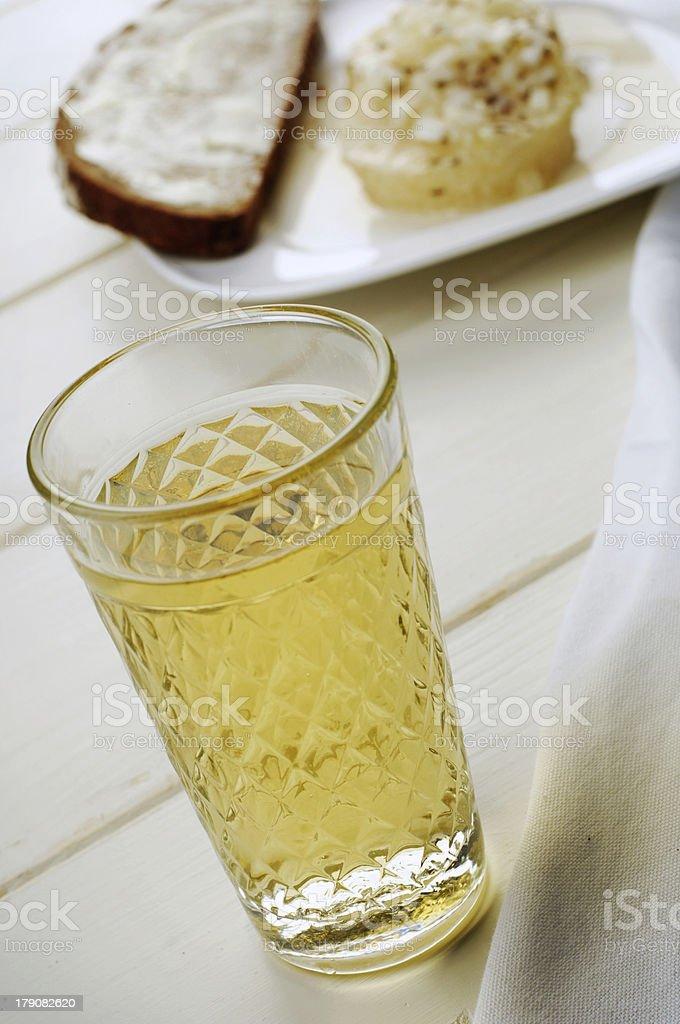Äppler + Handkäs´mit Musik - Cider and cheese royalty-free stock photo