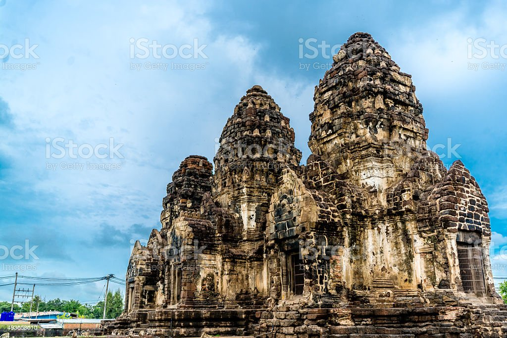 Pra Prang Sam Yod, Lopburi Thailand stock photo