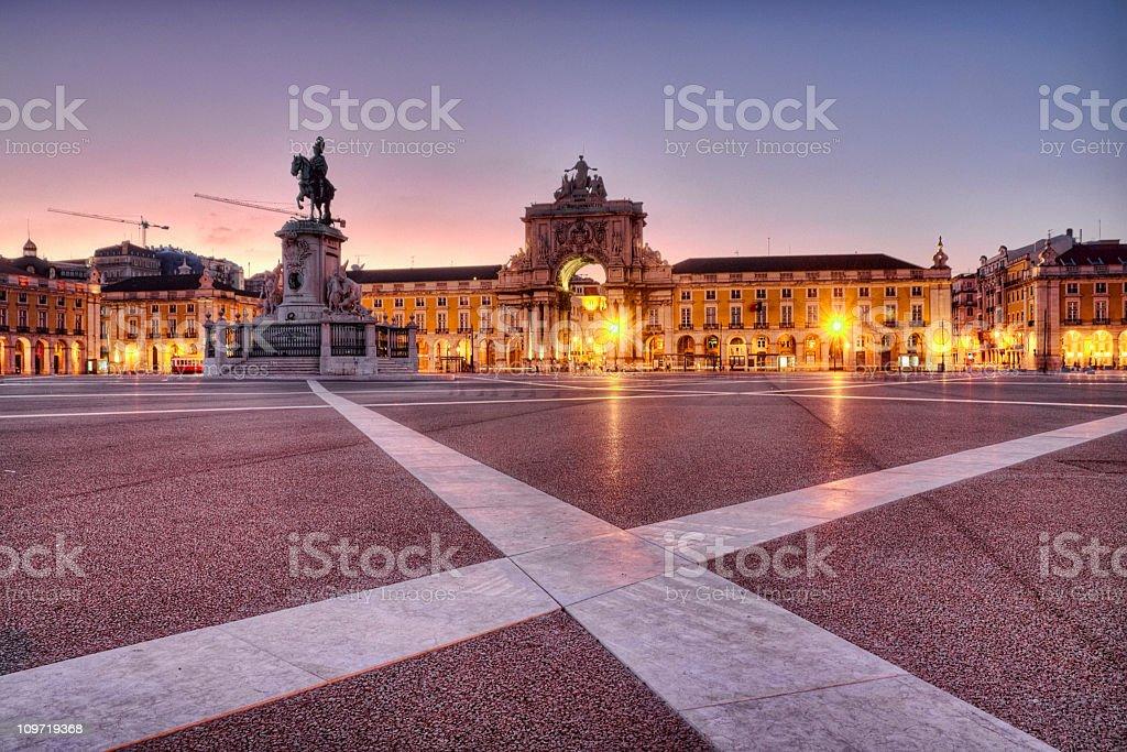 Praça do Comércio in Lisbon stock photo