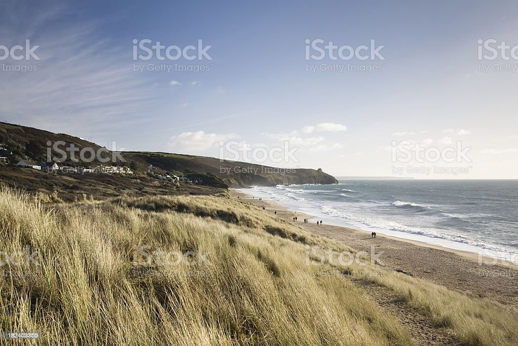 Praa Sands beach on the south coast of Cornwall stock photo