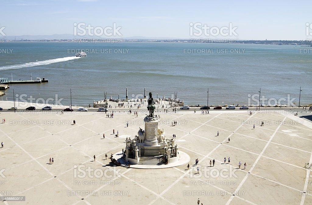 Praca do comercio in Lisbon stock photo