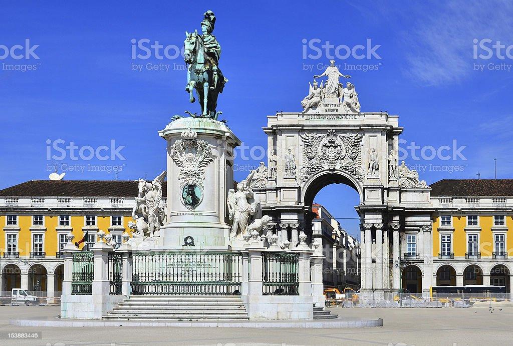 Praca do Comercio (Commerce Square) in Lisbon, Portugal stock photo