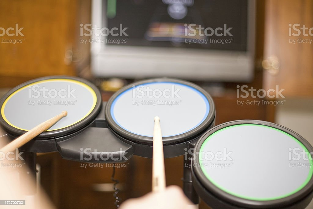Practice Drums In The Room stock photo