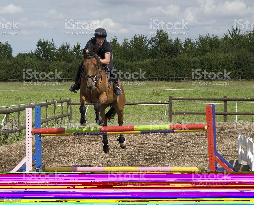 Practice Jump stock photo