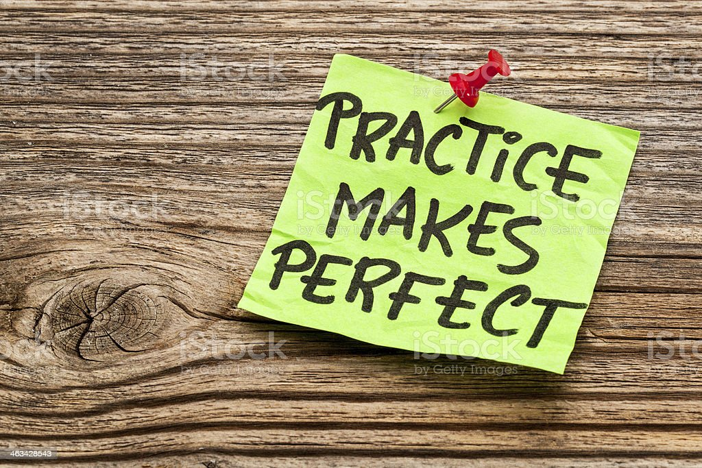 practice makes perfect royalty-free stock photo