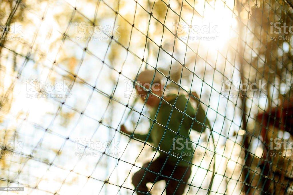 practice nets playground stock photo