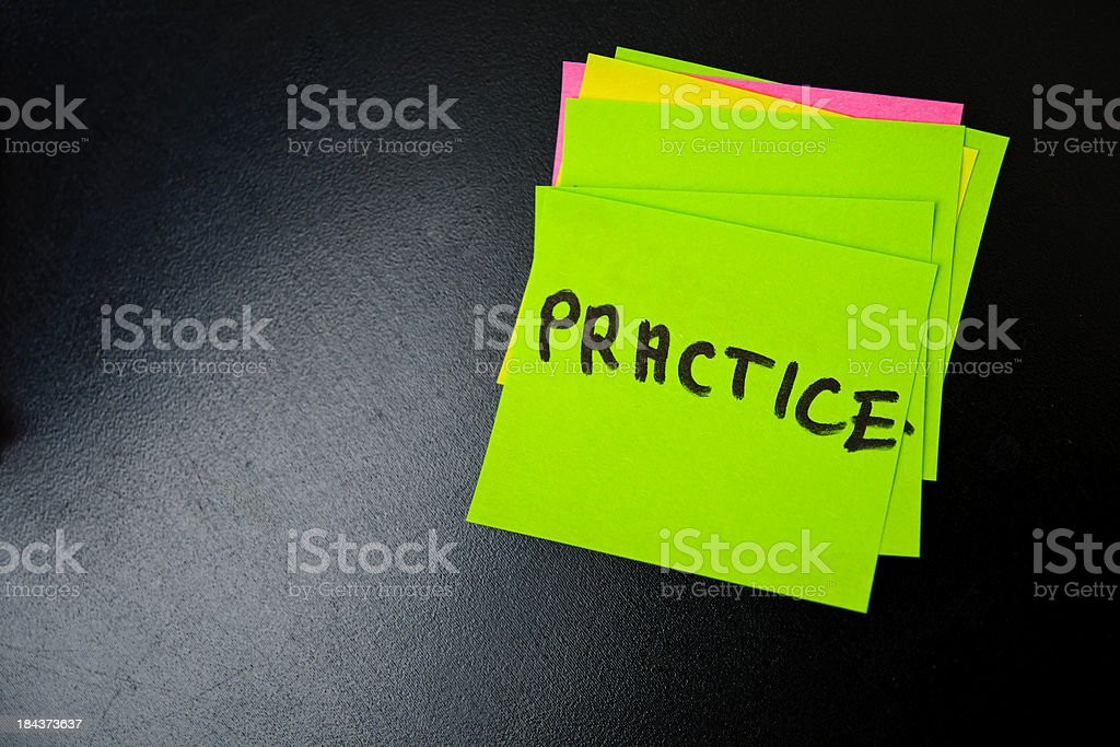 practice on post it royalty-free stock photo