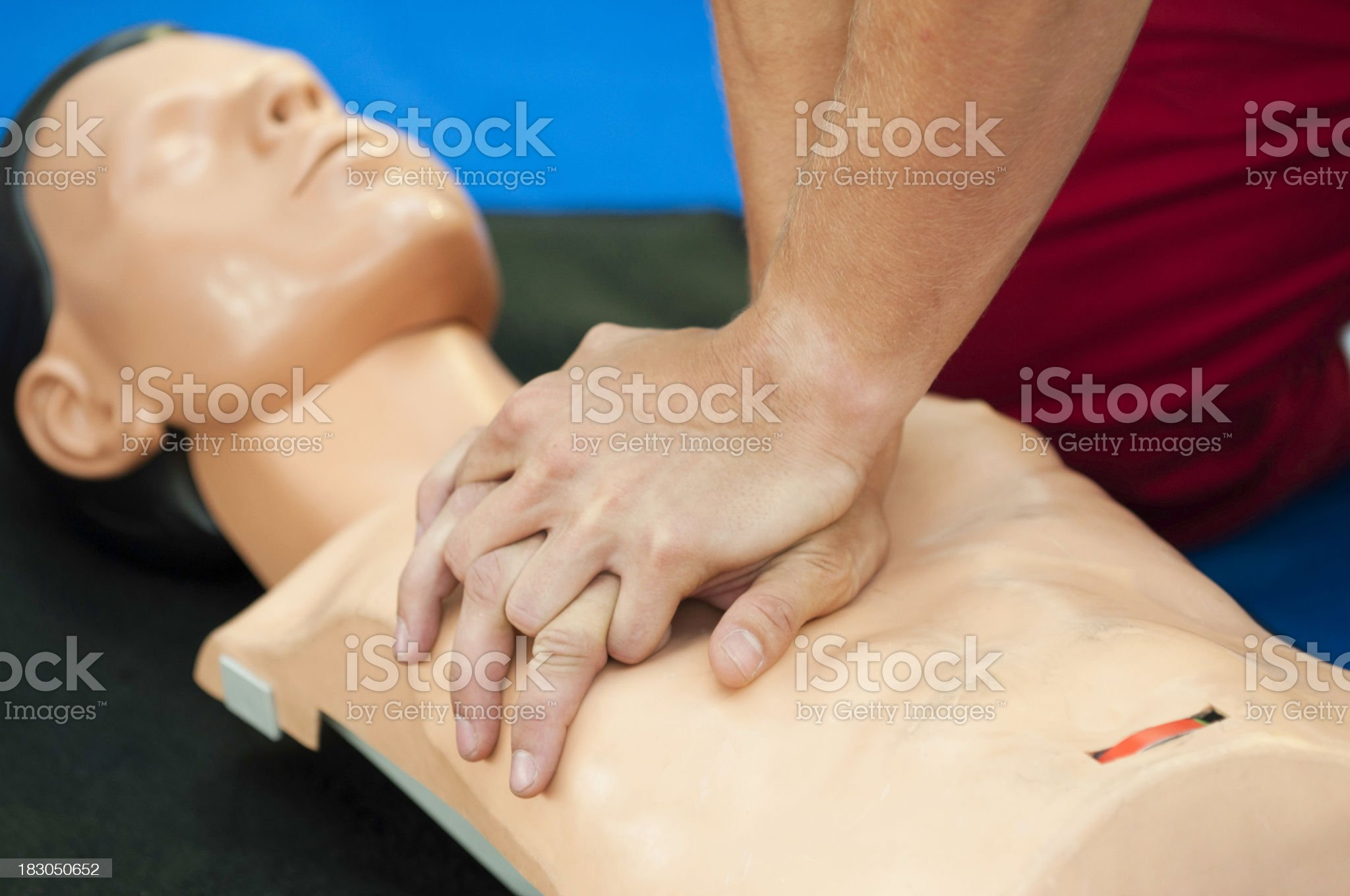 CPR practice royalty-free stock photo