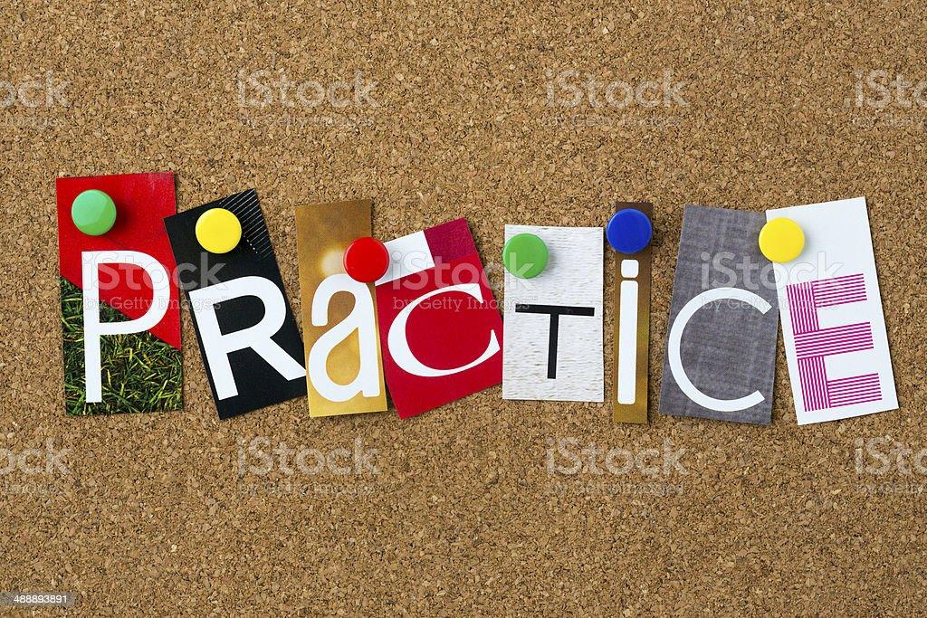Practice stock photo