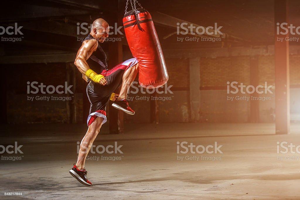 MMA Practice stock photo