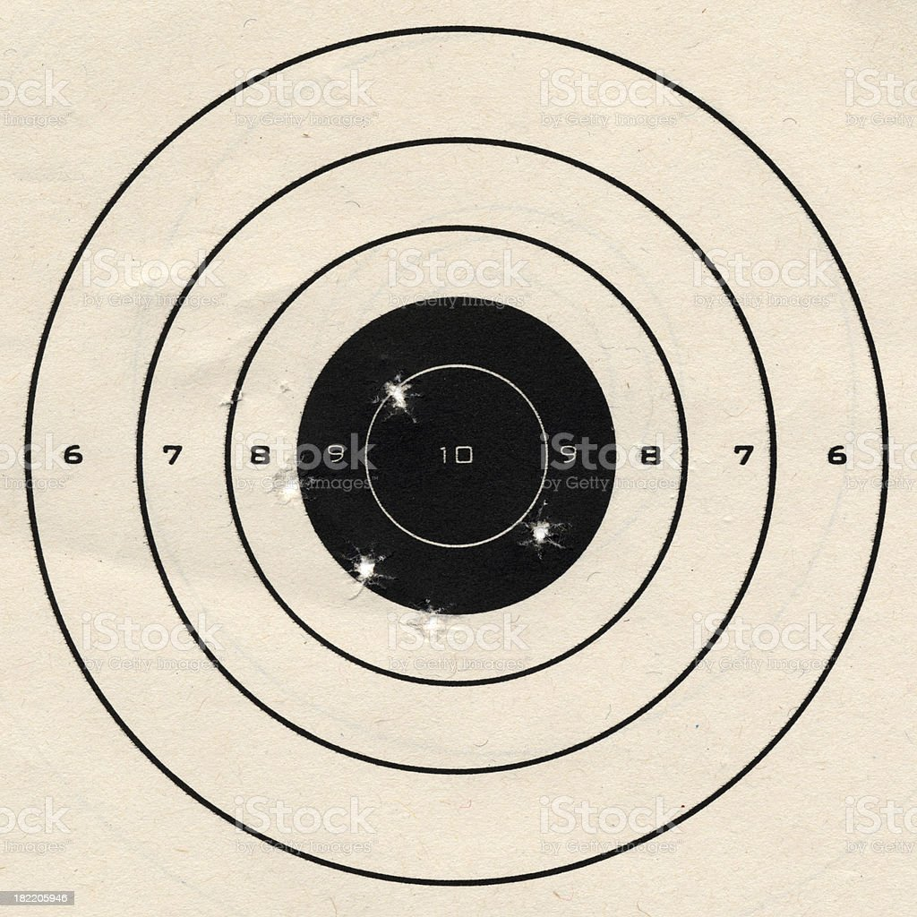 Practice Target royalty-free stock photo