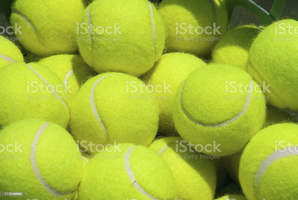 Practice Tennis Balls stock photo