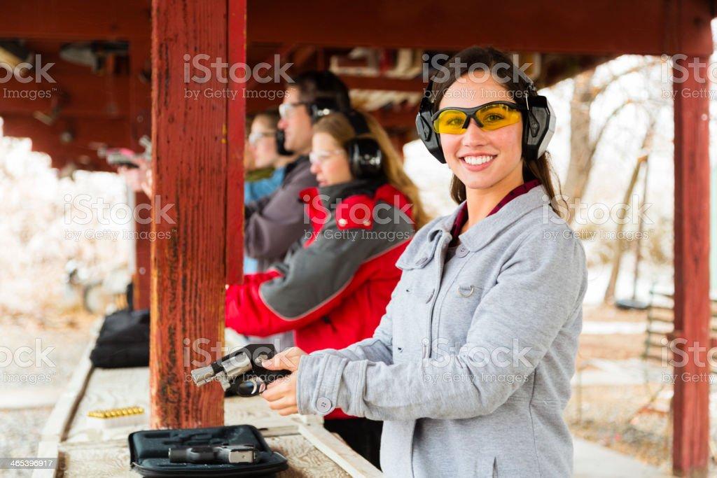 Practicing at the Shooting Range royalty-free stock photo