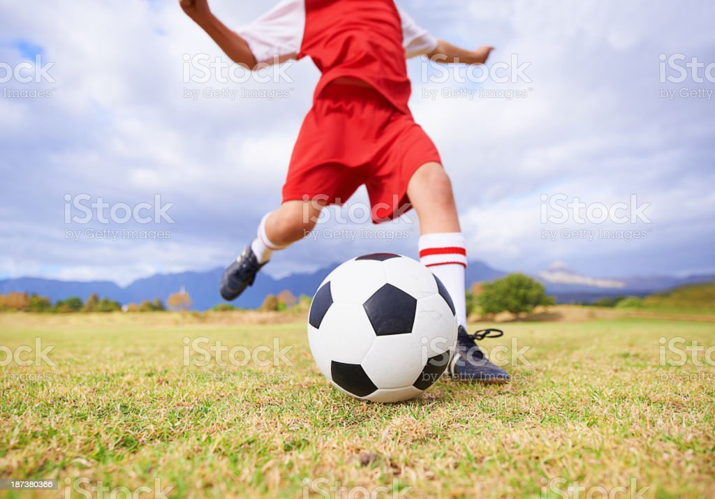Practicing for the game royalty-free stock photo