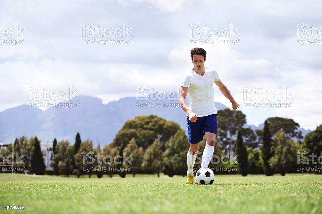 Practicing his skills royalty-free stock photo