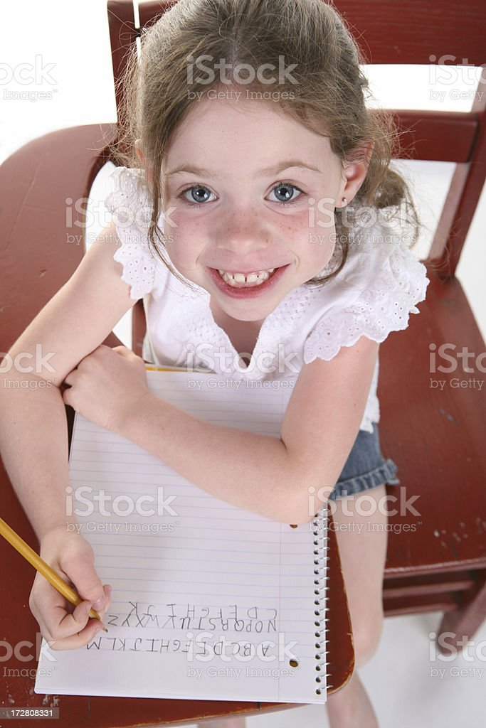 Practicing Letters 2 royalty-free stock photo