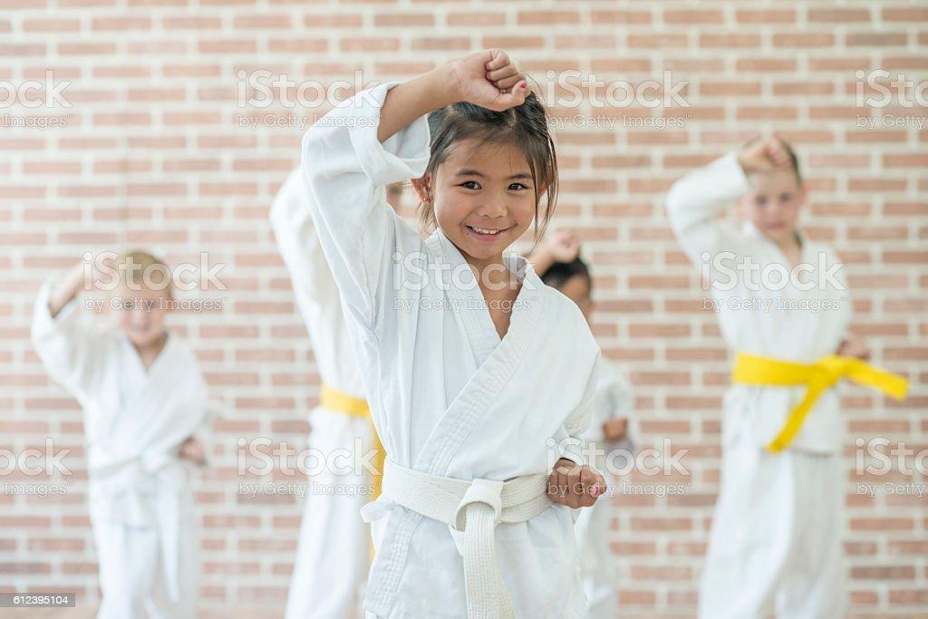 Practicing Martial Arts stock photo