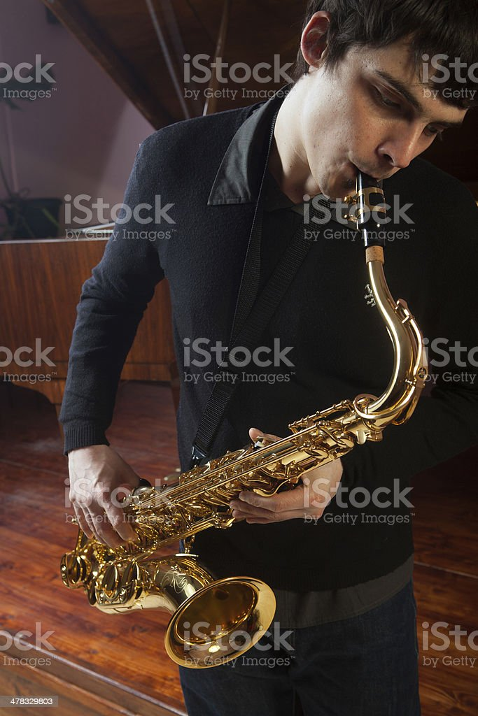 practicing royalty-free stock photo