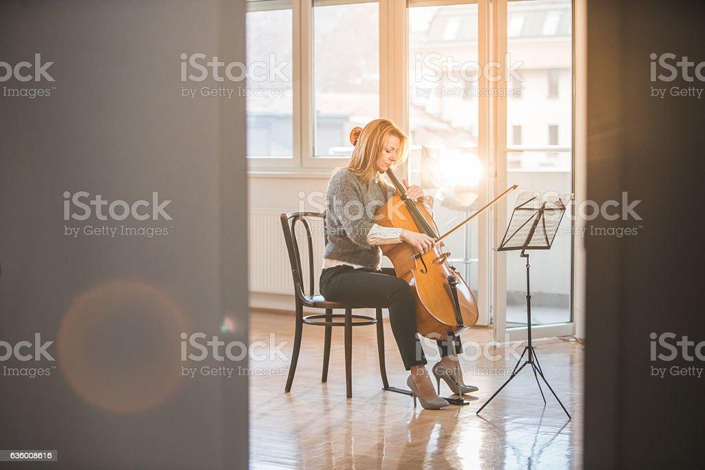 Practise makes wonders stock photo