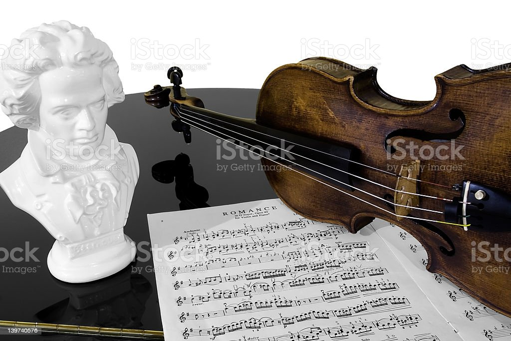 Practising Beethoven stock photo