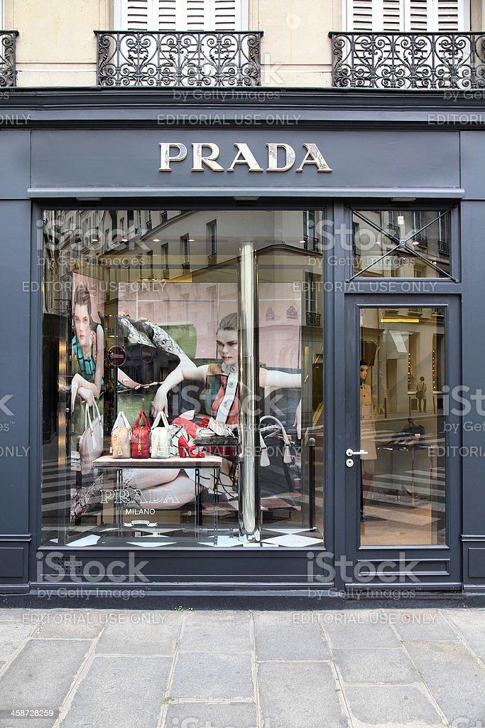 Prada in Paris royalty-free stock photo